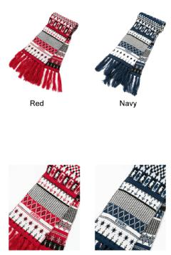 CHUMS チャムス マフラー CH09-1063<Holiday Chilly Knit Muffler ホリデイチリーニットマフラー>※取り寄せ品