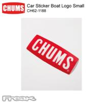 CHUMS チャムス 車や窓に貼れるステッカー CH62-1188<Car Sticker Boat Logo Small カーステッカーボートロゴスモール(ステッカー)>※取り寄せ品