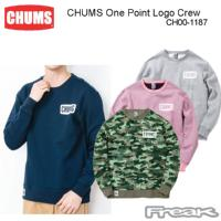 CHUMS チャムス CH00-1187<CHUMS One Point Logo Crew  チャムスワンポイントロゴクルー(パーカー/スウェット)>※取り寄せ品