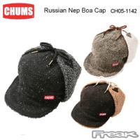 CHUMS チャムス キャップ CH05-1142<Russian Nep Boa Cap ロシアンネップボアキャップ(帽子/キャップ)>※取り寄せ品