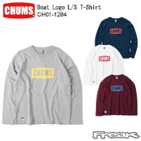 CHUMS チャムス LS Tシャツ CH01-1284<Boat Logo L/S T-Shirt  ボートロゴ長袖Tシャツ(トップス/カットソー)>※取り寄せ品