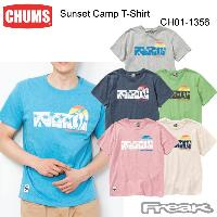 CHUMS チャムス CH01-1356<Sunset Camp T-Shirt サンセットキャンプTシャツ(トップス/Tシャツ)>※取り寄せ品