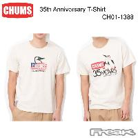 CHUMS チャムス CH01-1388<35th Anniversary T-Shirt 35thアニバーサリーTシャツ(Tシャツ)>※取り寄せ品
