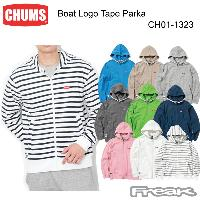 CHUMS チャムス CH01-1323<Boat Logo Tape Parka ボートロゴテープパーカー(トップス/パーカー)>※取り寄せ品