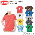 CHUMS チャムス CH11-1244<Booby Logo T-Shirt Women's  ブービーロゴTシャツ>※取り寄せ品
