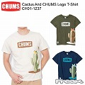 CHUMS チャムス CH01-1237<Cactus And CHUMS Logo T-Shirt  カクタスアンドチャムスロゴTシャツ>※取り寄せ品